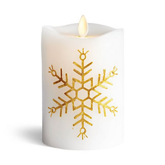 Snowflake Embossed Dream Pillar Candle