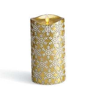 Snowflake Embossed Dream Candle Pillar
