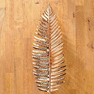 Metallic Fern Fronds, Set of Six
