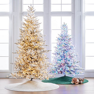 Sparkling Snow Color Changing 7-1/2' Full Profile Tree
