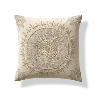 Adair Embroidered Decorative Pillow Cover