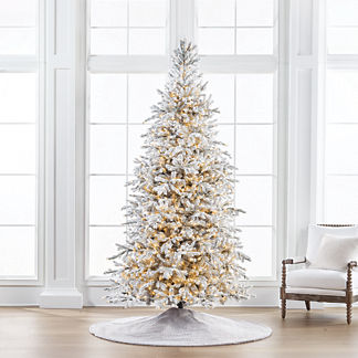 Sparkling Snow Color Changing 9' Full Profile Tree