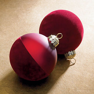Red Spice Velvet Ornament Accent Kit, Set of 12