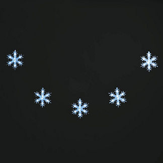 LED Outdoor Snowflake String
