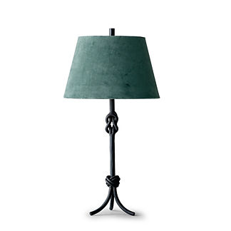 Keeley Table Lamp with Velvet Shade