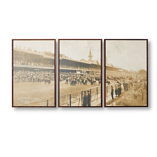 Kentucky Derby Giclee Print Triptych
