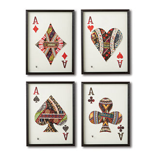 Ace Cut Paper Collages, Set of 4