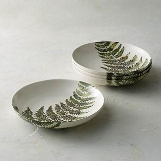 Felce Italian Ceramic Bowls, Set of Four