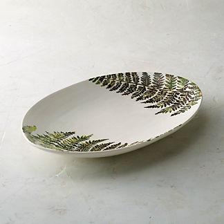 Felce Italian Ceramic Oval Platter