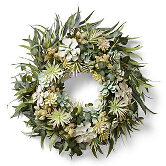 Sea Salt Succulent Wreath
