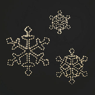 Micro LED Snowflakes, Set of Three