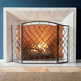 Victoria Beveled-glass Fireplace Screen