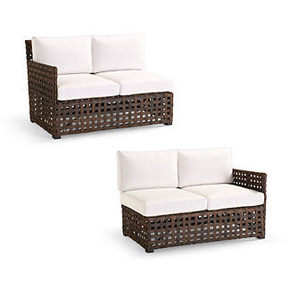 Conover Left-facing and Right-facing Loveseats with Cushions
