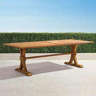 Teak Rectangular Farmhouse Dining Table