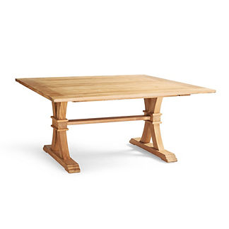 Square Teak Farmhouse Dining Table