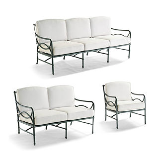 Tourelle 3-pc. Sofa Set in Gray Olive Finish
