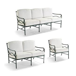 Tourelle 3-pc. Sofa Set in Gray Olive Finish