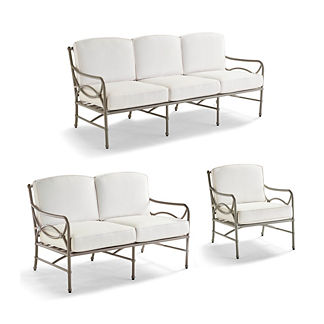 Tourelle 3-pc. Sofa Set in Pebble Gray Finish