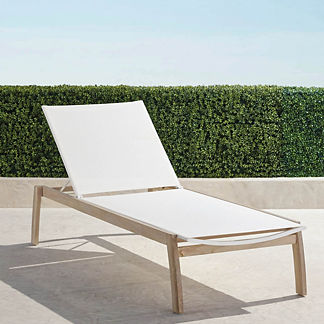 Resort Newport Weathered Teak Chaises, set of two