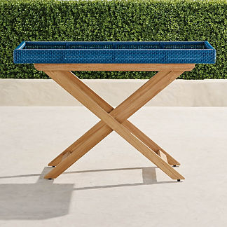 Peralta Woven Console Table
