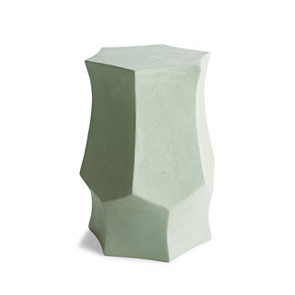 Henley Accent Stool in Silt Green