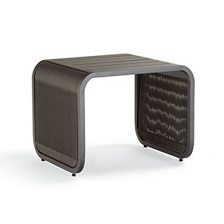 St. Kitts Side Table in Matte Black Aluminum