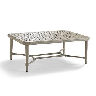 Tourelle Outdoor Coffee Table in Pebble Gray Finish