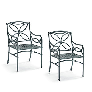 Tourelle Dining Chairs in Gray Olive Finish, Set of Two