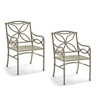 Tourelle Dining Chairs in Pebble Gray Finish, Set of Two
