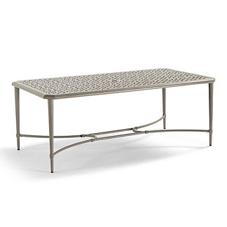 Tourelle Outdoor Dining Table in Pebble Gray Finish