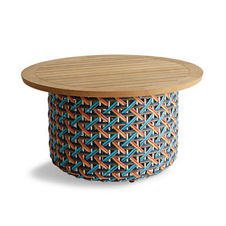 Harper Wicker Storage Tables in Multi Finish