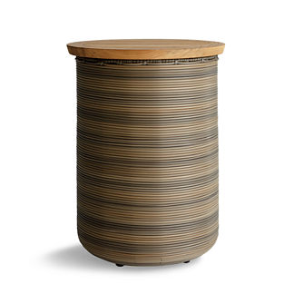Harper Wicker Storage Round Side Table