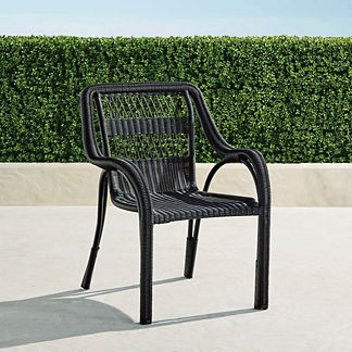 Capella Dining Arm Chairs in Black, Set of Two