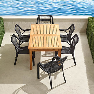 Capella 7-pc. Rectangular Dining Set in Black