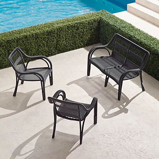 Capella 3-pc. Loveseat Set in Black