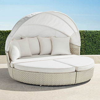 Cadence Daybed in Ivory Finish, Special Order