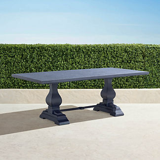 Aluminum Farmhouse Rectangular Dining Table