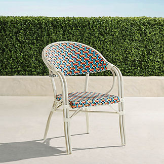 Harper Stacking Dining Arm Chairs, Set of Two
