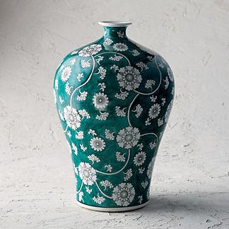 Ancient Emerald Single Gourd Vase