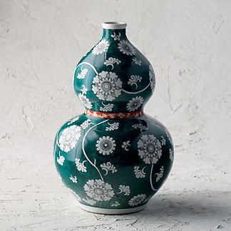 Ancient Emerald Double Gourd Vase