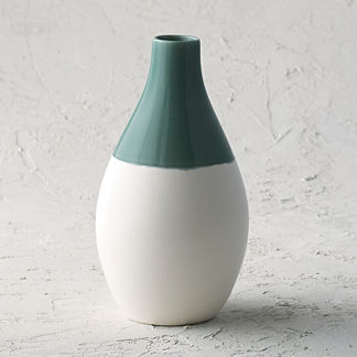 Chastain Fern Low Vase