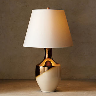Blanc de Chine Metallic Dip-dye Tall Table Lamp