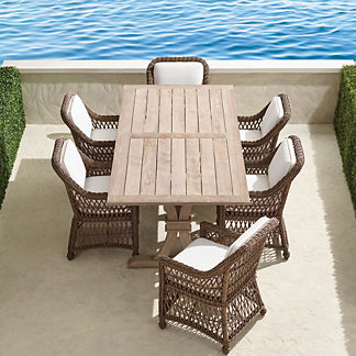 Hampton 7-pc. Rectangle Dining Set in Driftwood Finish