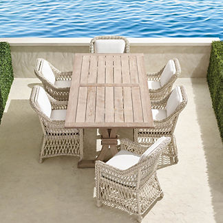 Hampton 7-pc. Rectangle Dining Set in Ivory Finish