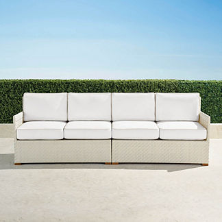 Cadence Left-Facing and Right-Facing Loveseats with Cushions, Special Order