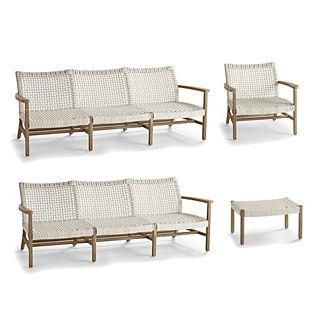 Isola 4-pc. Double Sofa Set in Weathered Oak Finish