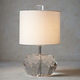 Faceted Crystal Accent Lamp