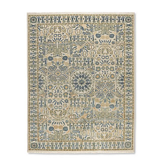 Saunders Hand-knotted Wool Area Rug
