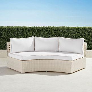 Pasadena II Sofa with Cushions in Ivory Finish