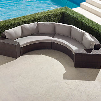 Pasadena II 4-pc.Sofa Set in Bronze Finish